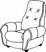 Armchair Coloring Pages Furniture Chair Sofa sketch template