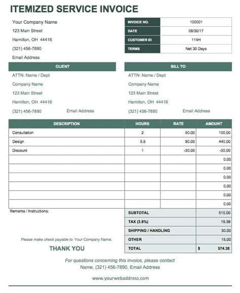 business receipt templates smartsheet