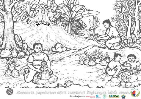 Buy Gambar Mewarnai Kebersihan Lingkungan Sekolah Gambar