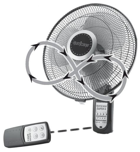 wall mount oscillating fan with remote hurricane super 8 digital wall mount fan 16 in