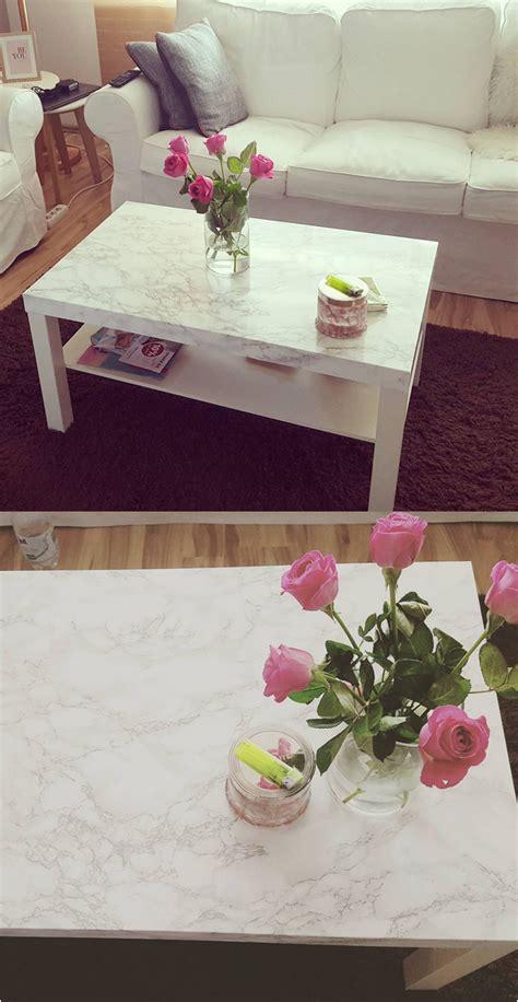 Ikea Tisch Lack Diy by Interior Diy Wohnen Marmor Tisch Mit Klebefolie Ikea