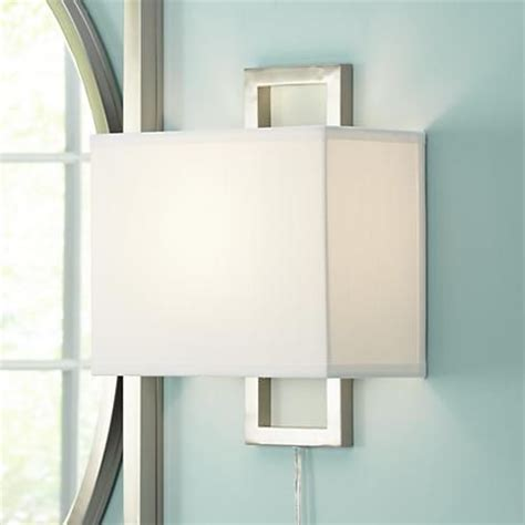 aundria rectangular brushed steel in wall l