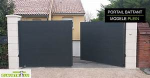 Portail 4 Metres 2 Vantaux : portail deux battants design aluminium tarif direct ~ Edinachiropracticcenter.com Idées de Décoration