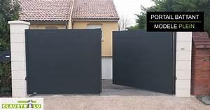 Portail En Aluminium : portail deux battants design aluminium tarif direct ~ Melissatoandfro.com Idées de Décoration