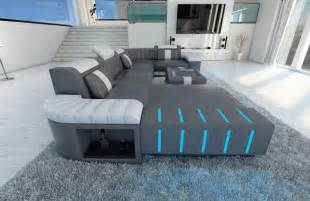 design sofa leder upholstered sofa interior design bellagio u shaped design sofa with led lighting ebay