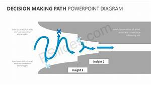 Decision Making Path Powerpoint Diagram