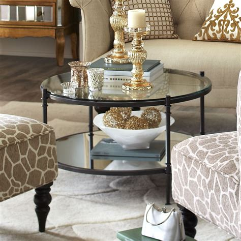 With a victorian edge, it's a beautiful piece to display in a formal living room or home office. Clara Coffee Table - Gunmetal | Glass coffee table decor ...