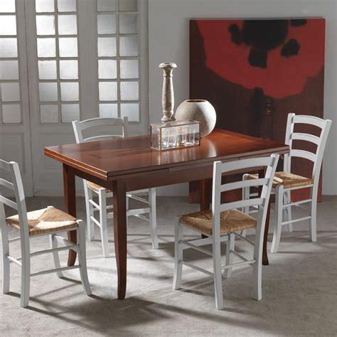 tavola da pranzo allungabile tavolo cucina legno noce stile shabby classico o country