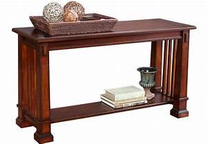 Clairfield Tobacco Sofa Table - Sofa Tables Dark Wood