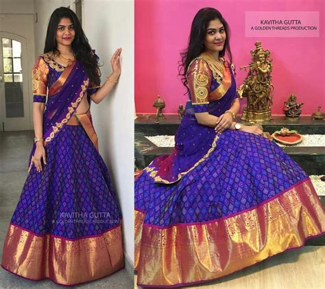 pin by bhavya veeranki on fav in 2019 half saree half saree designs half saree lehenga