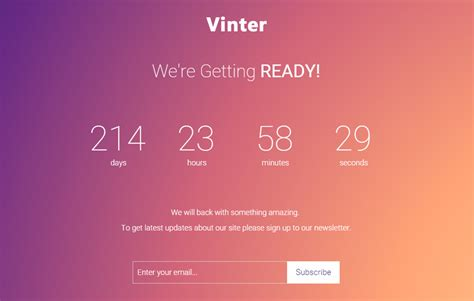 Coming Soon Web Page Templates by Free Bootstrap Coming Soon Web Template Webthemez