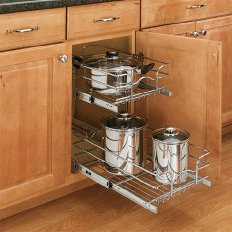 pull out trays for kitchen cabinets do pull out racks really help save space 9182