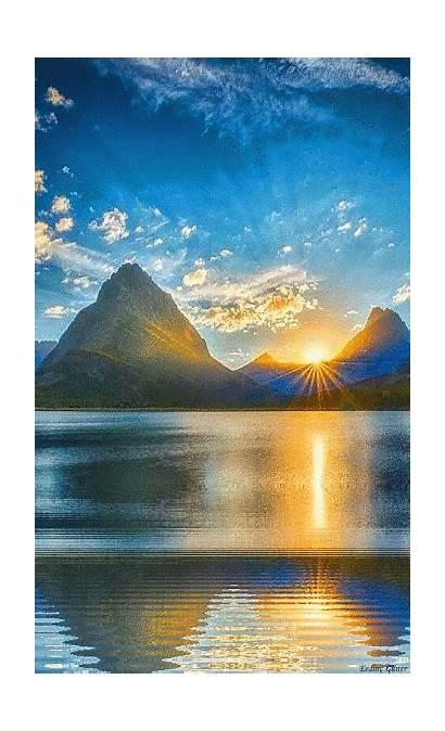 Nature Sunset Google Sunrise Lake Glacier National