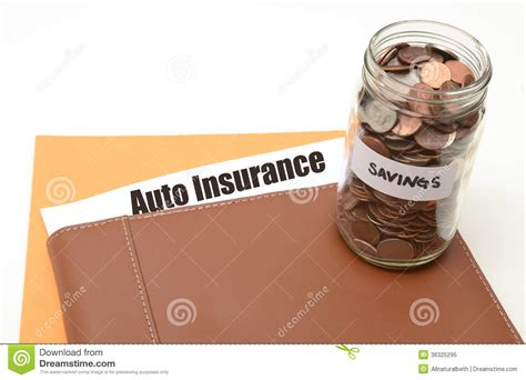 Save Money On Auto Or Car Insurance Stock Image