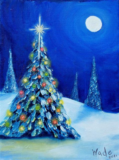 oh christmas tree painting by craig wade