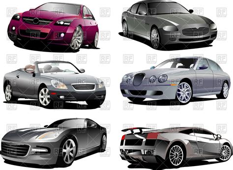 Luxury Cars Sedan, Coupe, Cabriolet And Sport Car Vector