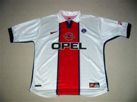 maillot psg saison 1998 1999 exterieur maillot foot collector