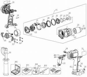 Dewalt Dcd960 18v Cordless Drill  Driver Parts Kit Parts