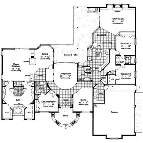 mediterranean style floor plans mediterranean house plans house plans