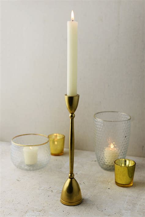 taper candle holders antique gold 10 quot taper candle holder
