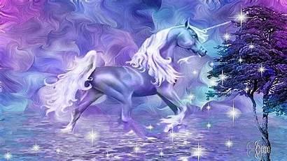Unicorn Desktop Fantasy Purple Majestic Unicorns Magical