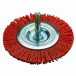 Brosse Métallique Pour Perceuse : brosse wolfcraft circulaire nylon rouge diam tre 75 mm ~ Dailycaller-alerts.com Idées de Décoration