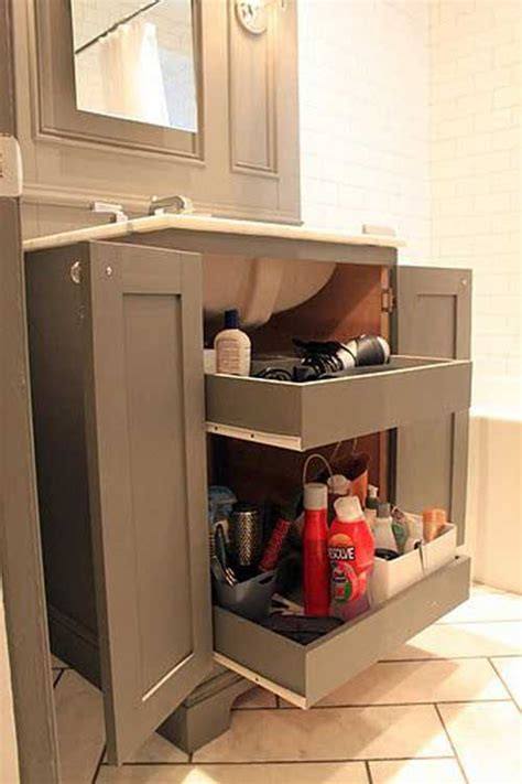 cool pull  storage ideas  bathroom homedesigninspired