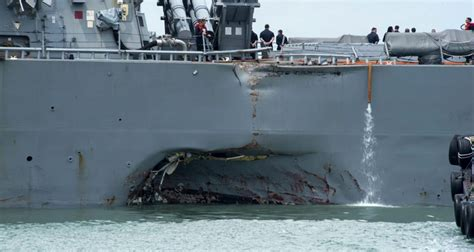 Ship Collision by Ten Missing After Us Navy Ship Collision Off Singapore