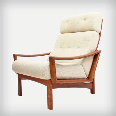 Teak Armchair by High Back Teak Armchair Model Vario Vintage