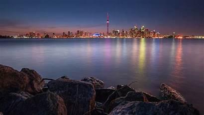 Toronto Wallpapers Canada Skyline Phone Night Lake