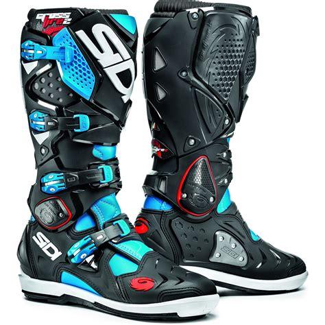 blue dirt bike boots sidi crossfire 2 srs motocross boots dirt bike enduro moto