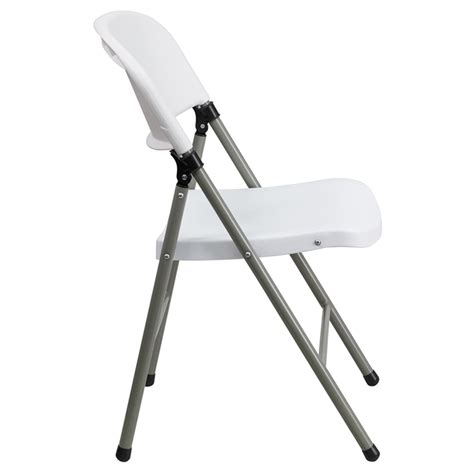 hercules series plastic folding chair gray frame white dcg stores