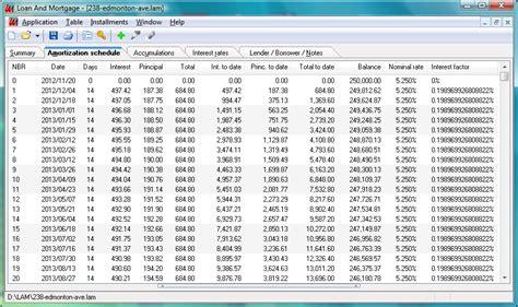 loan amortization table calculator amortization schedule program