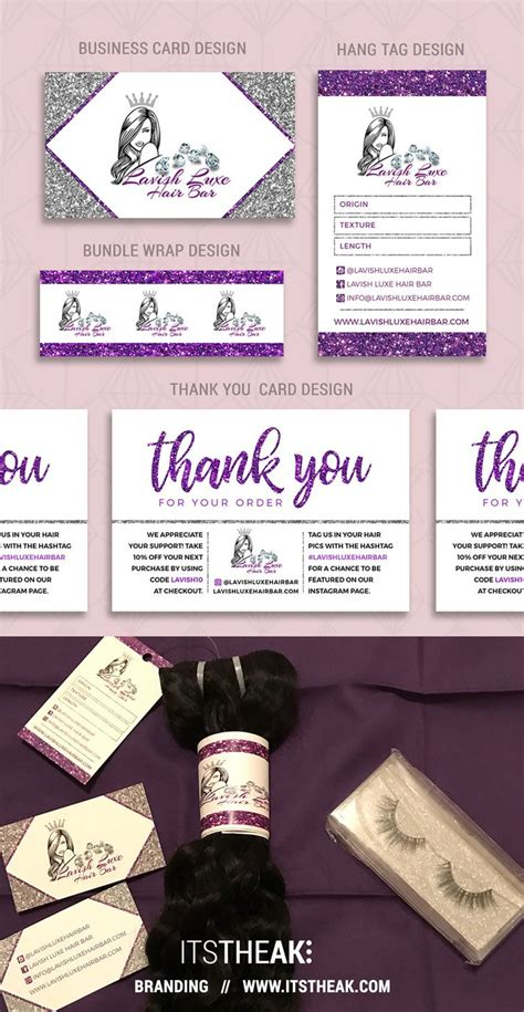 branding package business card design hang tag bundle