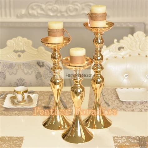 gold metallic centerpieces wholesale floral stand wedding
