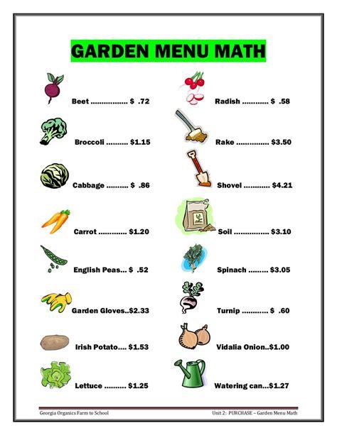 worksheet menu math printable worksheets worksheet best