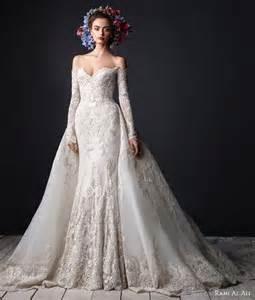 the shoulder wedding dress with lace sleeves luxury appliques sleeves lace mermaid wedding dresses detachable the