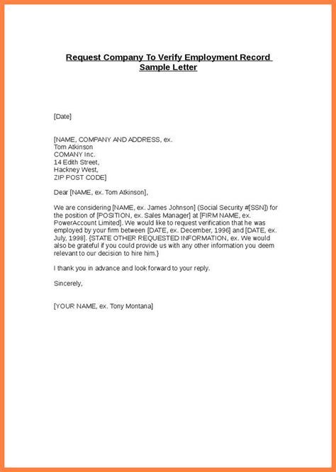 The Employment Company by Confirmation Of Employment Letter For Bank Printable