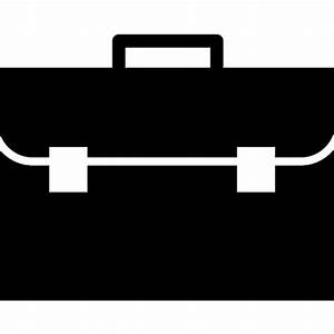 Briefcase frontal view - Free business icons