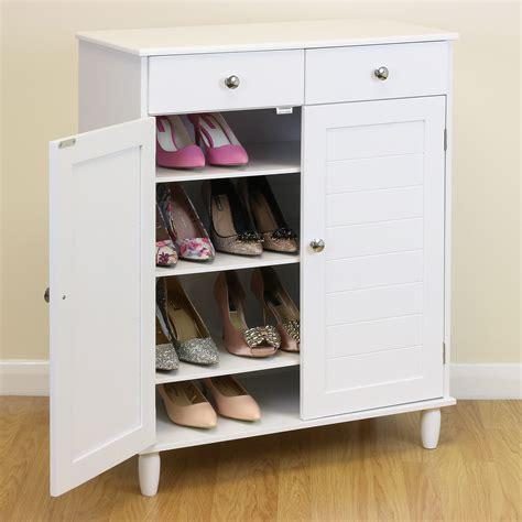 white wooden  tier shoe storage cabinet hallwaybedroom