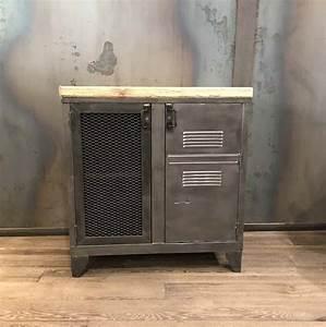 Petit Meuble Industriel : meubles de rangement industriel m tal bois meuble imprimante metal pinterest meuble de ~ Teatrodelosmanantiales.com Idées de Décoration
