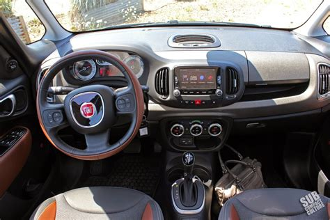 Fiat 500l Interior by Review 2014 Fiat 500l Trekking Subcompact Culture The