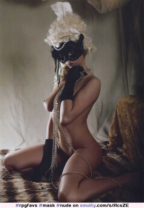 Mask  nude  erotic  naked  sexy  gloves  black  luxurious