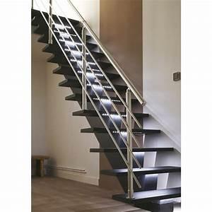 Escalier Droit Gomera Structure Mdium Mdf Marche Mdium