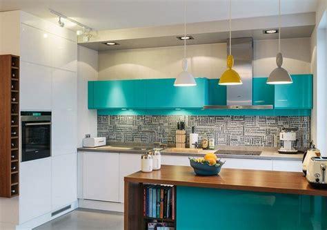 cuisine turquoise et gris couleur pour cuisine 105 idées de peinture murale et façade