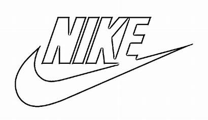 Nike Drawing Sketch Coloring Pages Logos Colouring