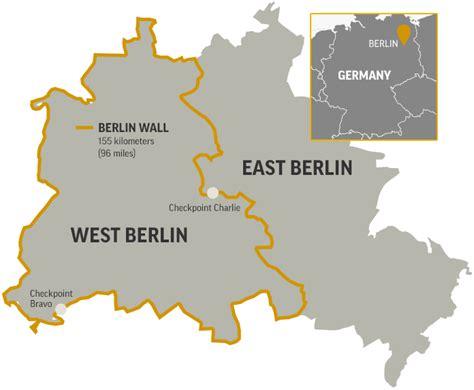 germany map showing berlin wall