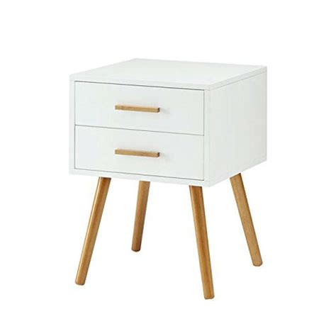 modern  drawer  table nightstand  white  mid