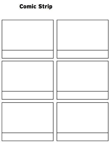 printable comic strip template  word pages printable