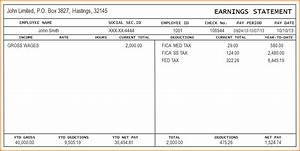 8 check stub template authorizationlettersorg for Template for payroll check stub